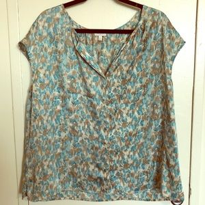 NWOT Talbots XL Short-Sleeve Blouse